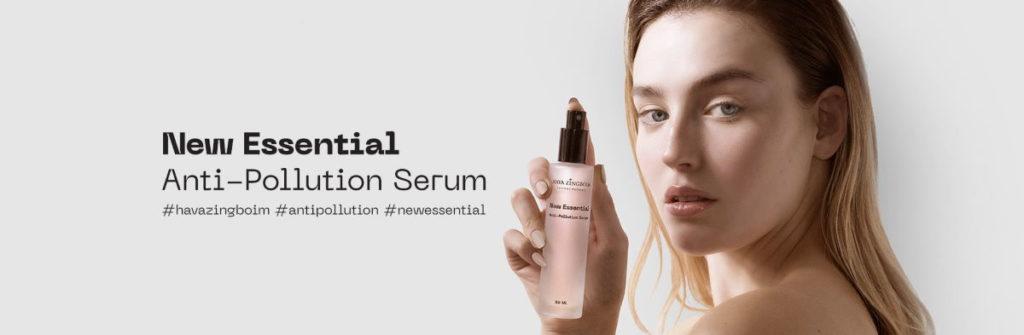 new essential anti polution serum banner